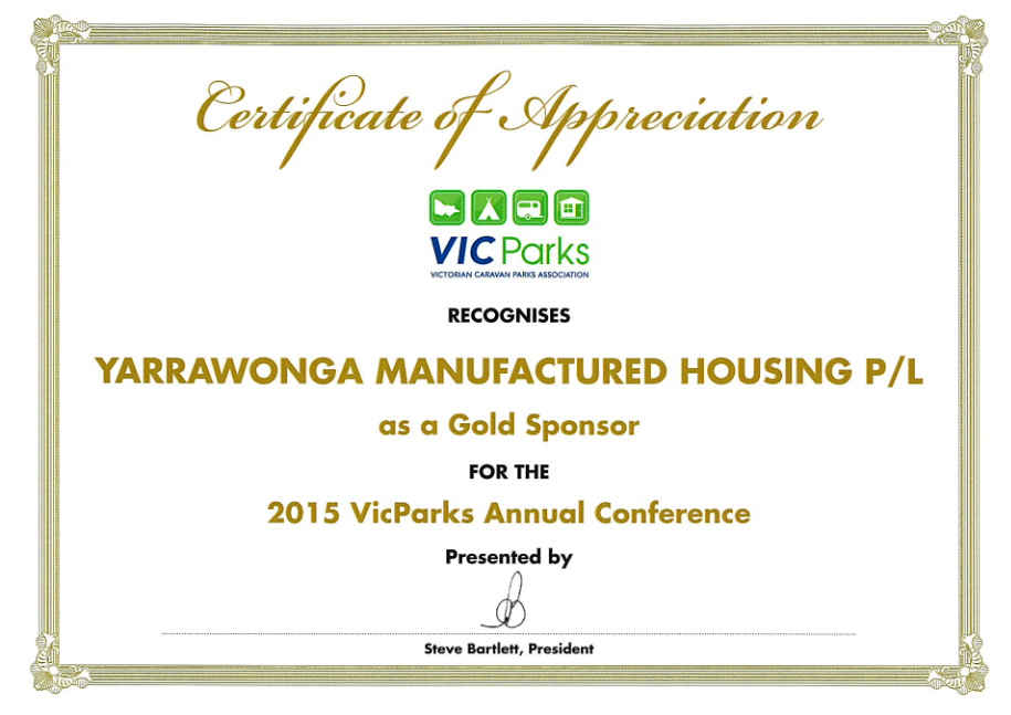 2015 Vic Parks Gold Sponsor