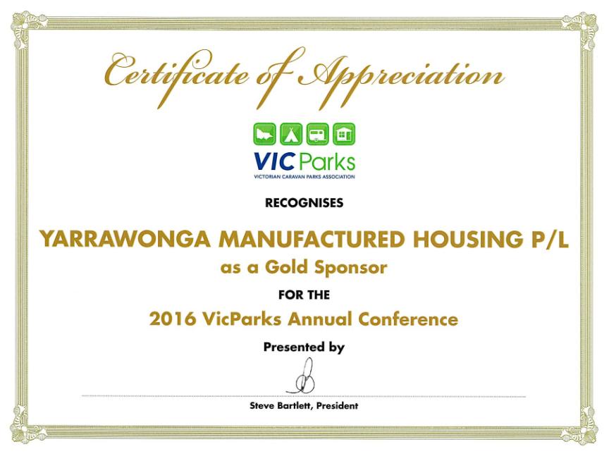 2016 Vic Paks Gold Sponsor